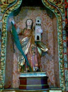 Restauración escultura santa bárbara